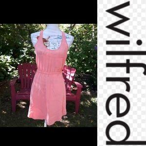 EUC size xxs Wilfred silk orange mini dress 💞💗